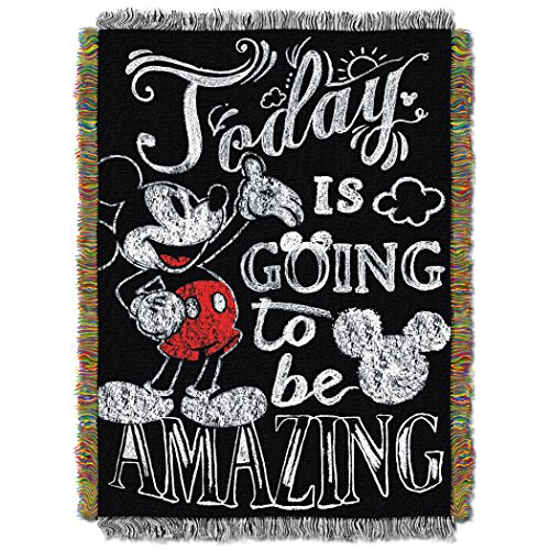 Disney Mickey Mouse Amazing Day Woven Tapestry Throw, ()