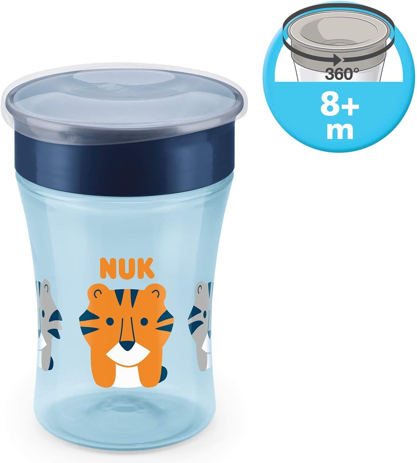 8+ Mesi Topolino senza BPA Bordo 360 230ml Disney Mickey Mouse NUK Magic Cup Bicchiere Antigoccia per Bambini