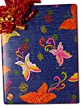 24'' X 100' Butterfly On Denim Gift Wrap