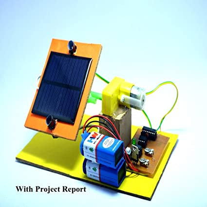 SR ROBOTICS Single Axis Solar Tracking System Handmade Working Project
