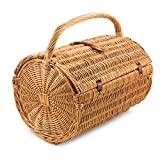 Vintiquewise Picnic Basket with Accessories Servings for Four