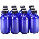 Oval Glass Pharmacy Bottles Vinyl Lined Caps 6 Oz Case