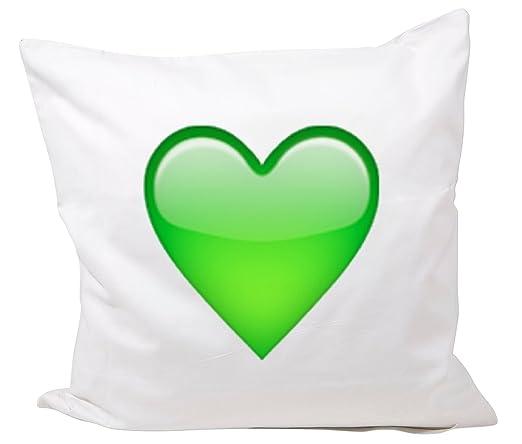 Druckerlebnis24 Funda de Almohada 40x40 corazón Verde de ...