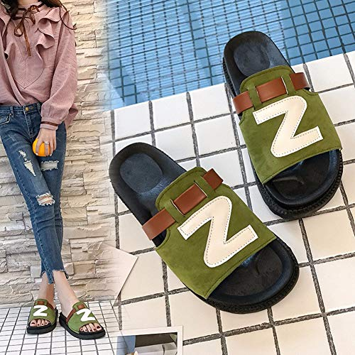 Open Heel Home Slip Green Toe Sandal Indoor Prime Bath House Flat 08031 Slipper KJJDE Women's LJXY Anti qwRgBT8xO