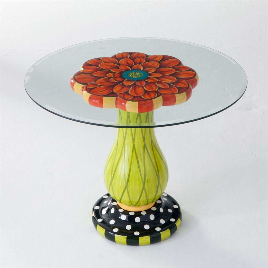 Brylanehome Glass-Top Flower Table (Multi,0)