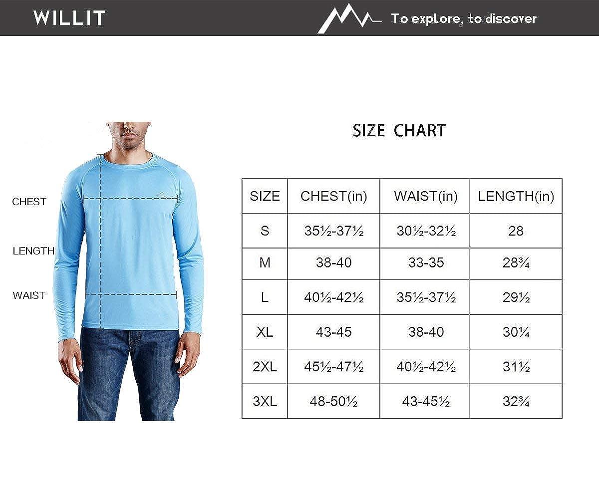 Sun Protection Hoodie Shirt Long Sleeve SPF Performance Hiking Shirt Quick Dry Lightweight Willit Mens UPF 50