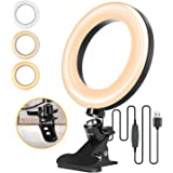 "ELEGIANT 6.3"" Selfie Ring Light with Clamp Mount for Desk, Bed, Office, Makeup, YouTube, Video, Live Steam & Broadcast…"