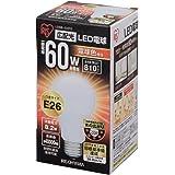 アイリスオーヤマ LED電球 口金直径26mm 60W形相当 電球色 広配光タイプ 密閉形器具対応 LDA8L-G-6T2