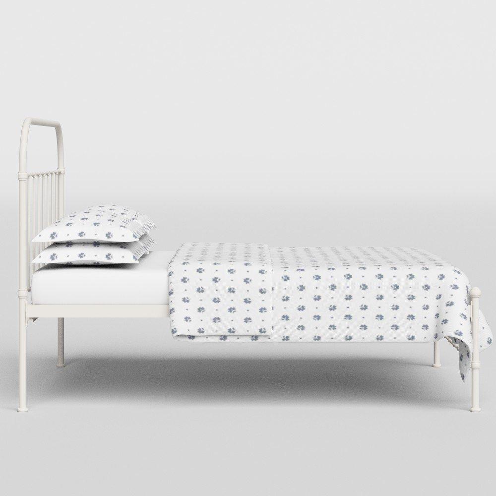 The Original Bed Co. Cama De Metal Solomon Cama De Estructura De Hierro Marfil Brillante 160 x 200 CM: Amazon.es: Hogar