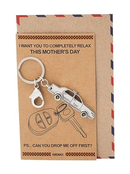 Amazon.com: Quan Jewelry - Llavero de coche para mamá ...