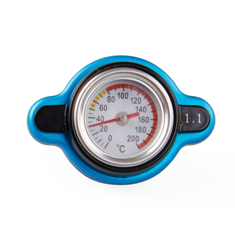 Sporacingrts Small Head Temperature Gauge with Utility Safe 1.3 Bar Thermo Radiator Cap Tank Cover