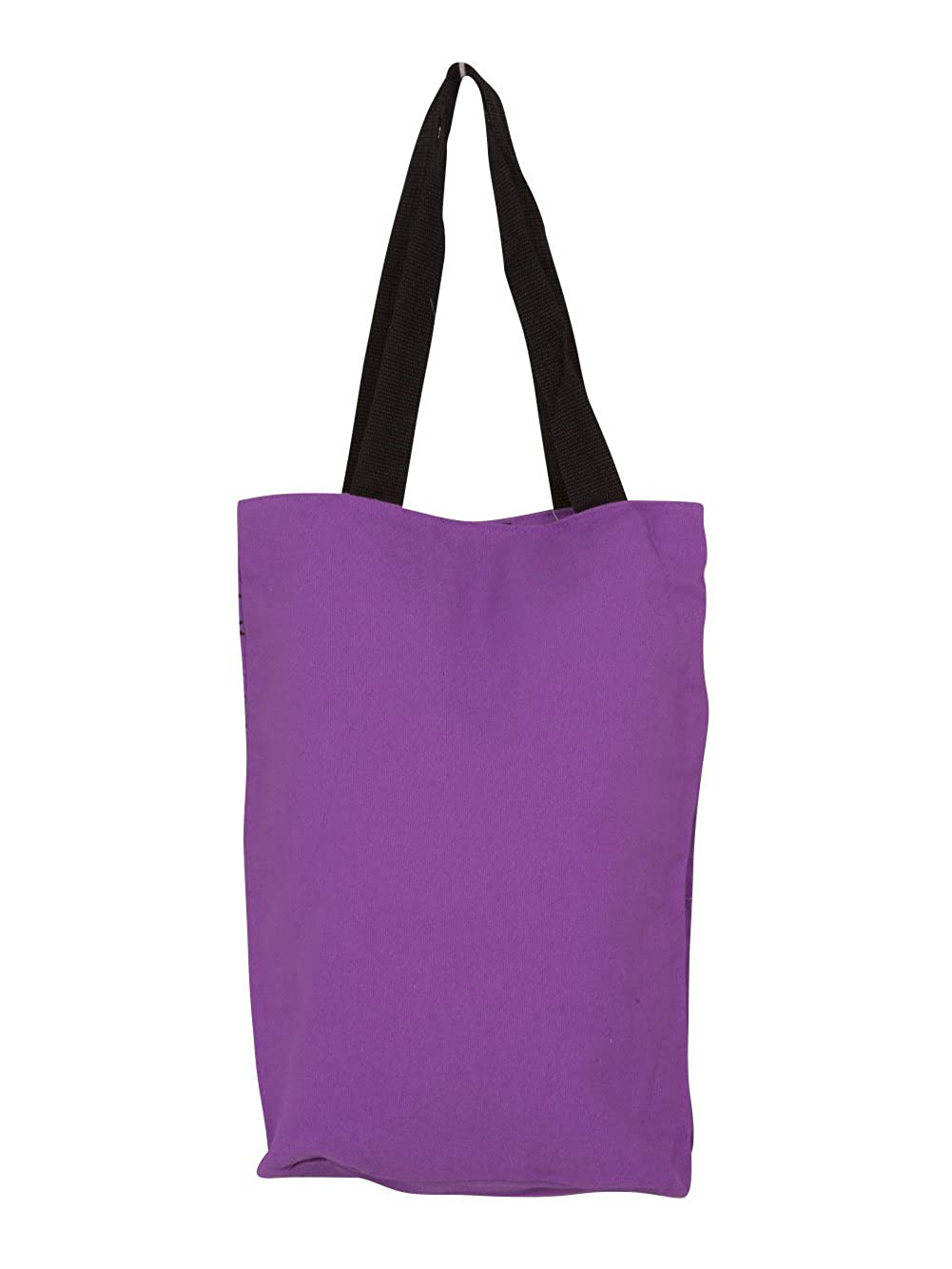 Hannah Montana Tote Bag Purple With Pink and Black Flowers Disney Channel