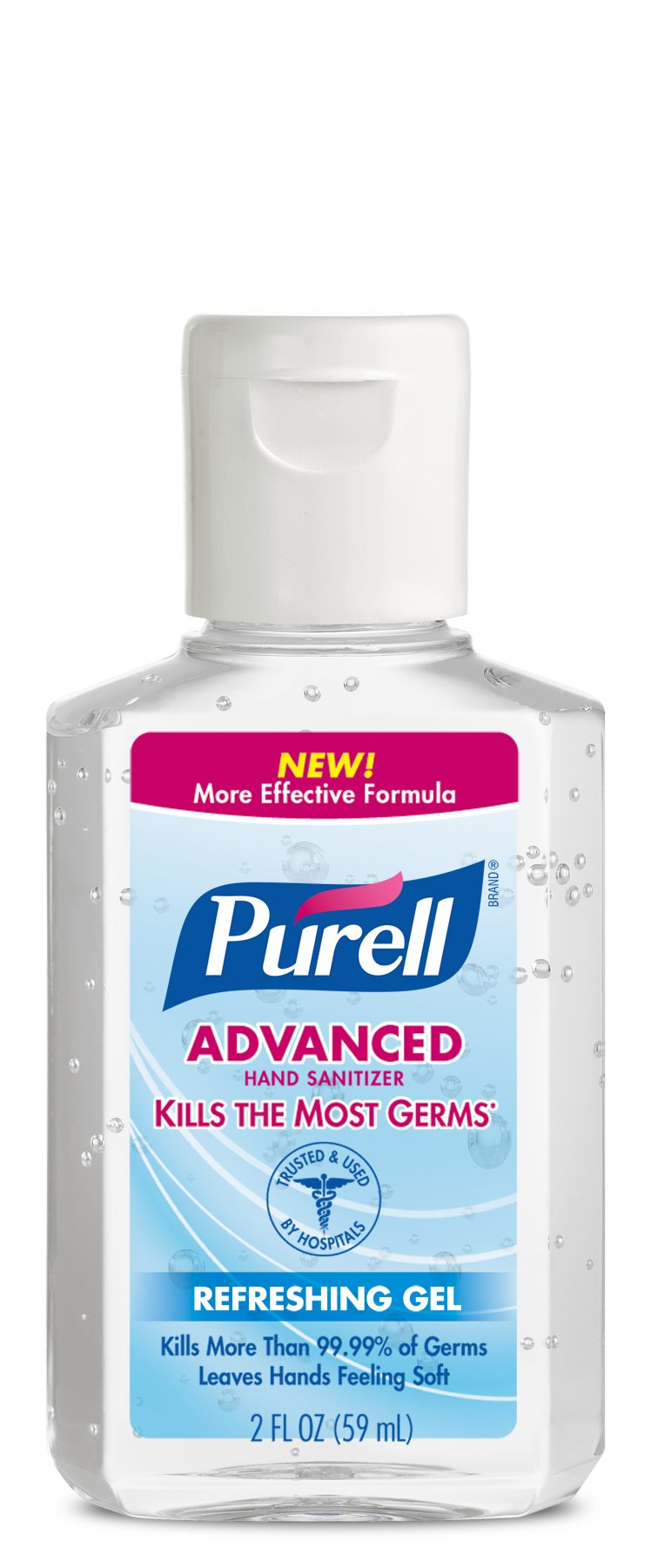 PURELL Advanced Hand Sanitizer, Refreshing Gel, 2 fl oz Portable, Travel sized Flip Cap Bottles (Pack of 24) - 9650-24-CMR by Purell