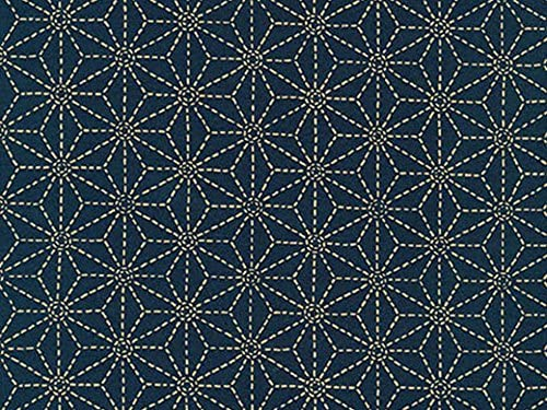 """Japanese Cotton Fabric with Wave design Sevenberry 100/% cotton 44/"""" wide"""