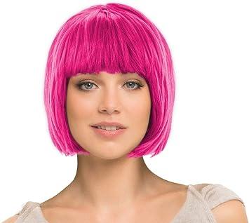 Perruques Cheuveux court lisse coupe Bob toutes les couleurs s/électionner la couleur:court rose-vif