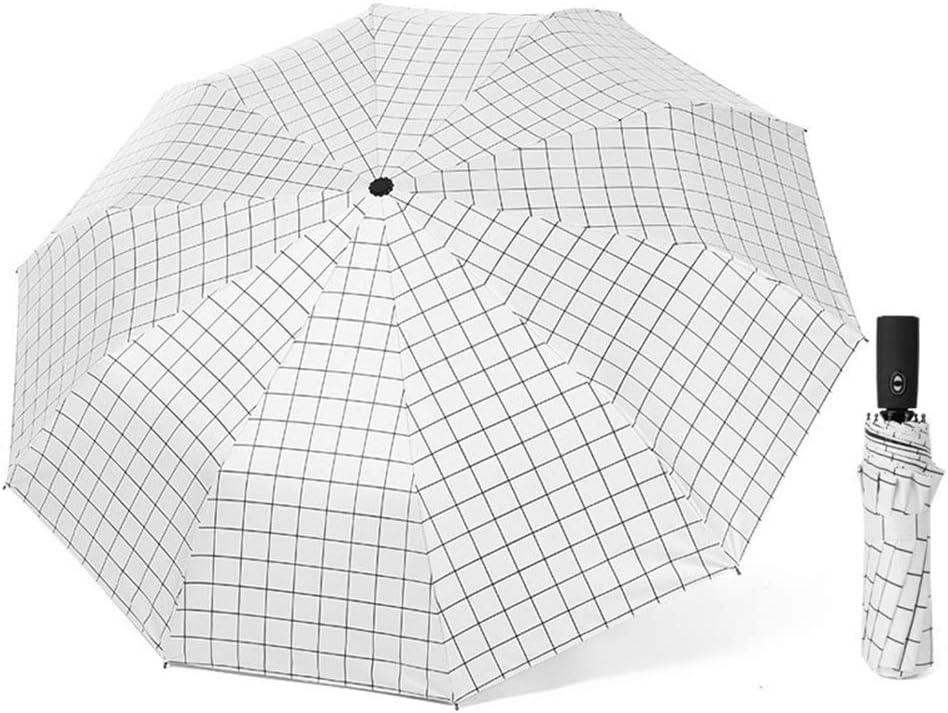 JUNDY Paraguas Compacto y Resistente al Viento, Paraguas Plegable, Conveniente para Viajes Paraguas automático Enrejado Triple plástico Negro Protector Solar color4 100cm: Amazon.es: Hogar