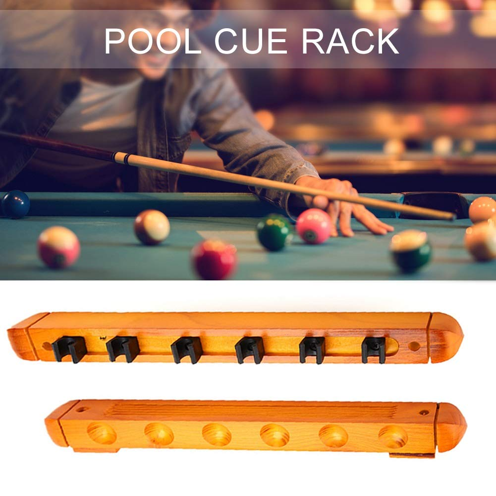 Billiards Stick Holder-Wood Billiards Cue Pole Wall Mounted Rack Sticks Holder Organizer Carrier Accessory