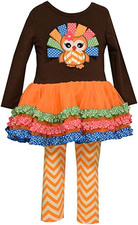 Details about  /RARE EDITIONS® Girl/'s 3T Thanksgiving Pumpkin Tutu Leggings Set NWT $55