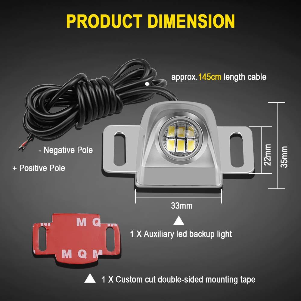 Amazon.com: Auxiliary Reverse Light Bulb,LEADTOPS Mini Universal Super  Bright Backup Parking LED Light Lamp Waterproof, Backup camera Illumination  for Truck ...
