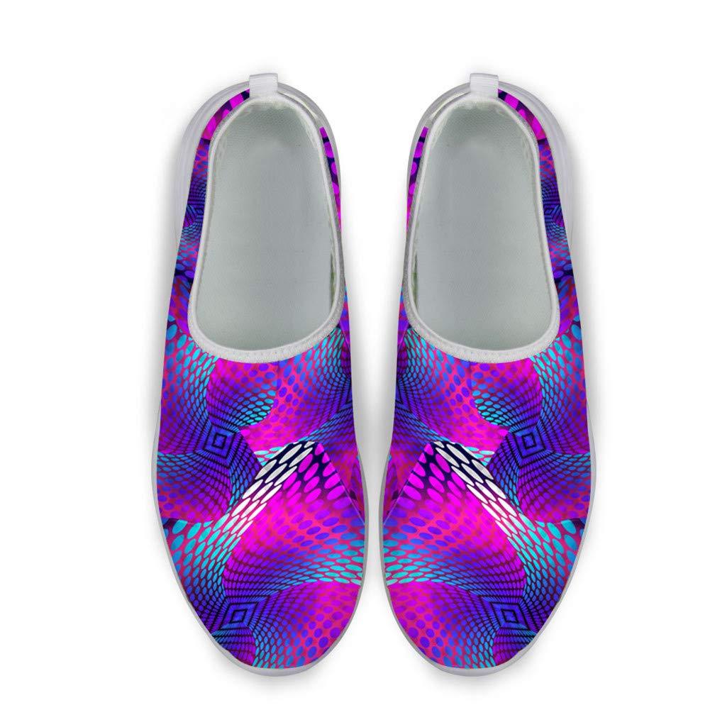 Santiro White Pet Dog Print Printing Pattern Mens /& Womens Breathable Mesh Comfortable Slip On Running Shoes