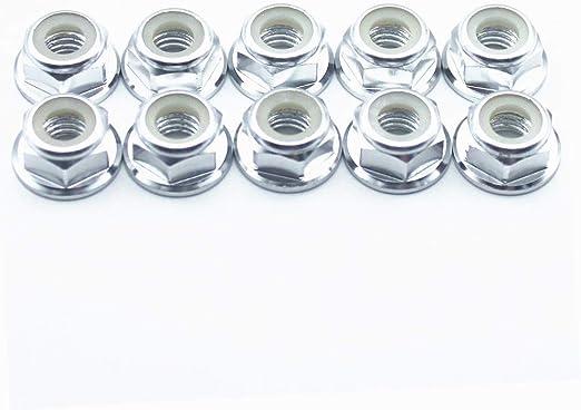 UEVIN 100Pcs M3 Nylon Lock Nuts Assortment Kit,Stainless Steel Screw Locknut LN-M3