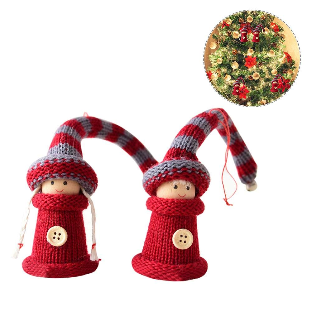 2 Pcs Cute Christmas Doll Christmas Tree Pendant Christmas Hanging Decoration Christmas Gift Hjuns®