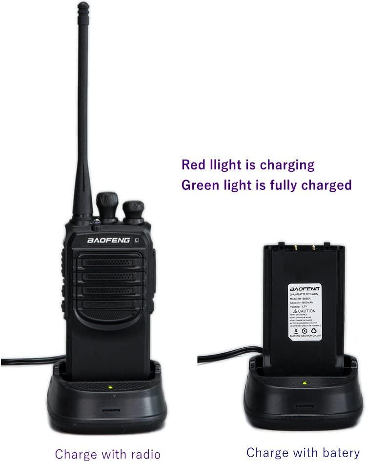 Walkie Talkies Ways Radio Long Range and Reachargeble Baofeng BF-888SA Packs with Earpieces Mic for Adults Trolling Camping Hiking Hunting Travelling