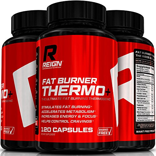 Fat Burner Thermo+ - Advanced Thermogenic for Men & Women - Includes Acetly L-Carnitine, Green Coffee, Garcinia & Yohimbine - 120 Vegetable Capsules