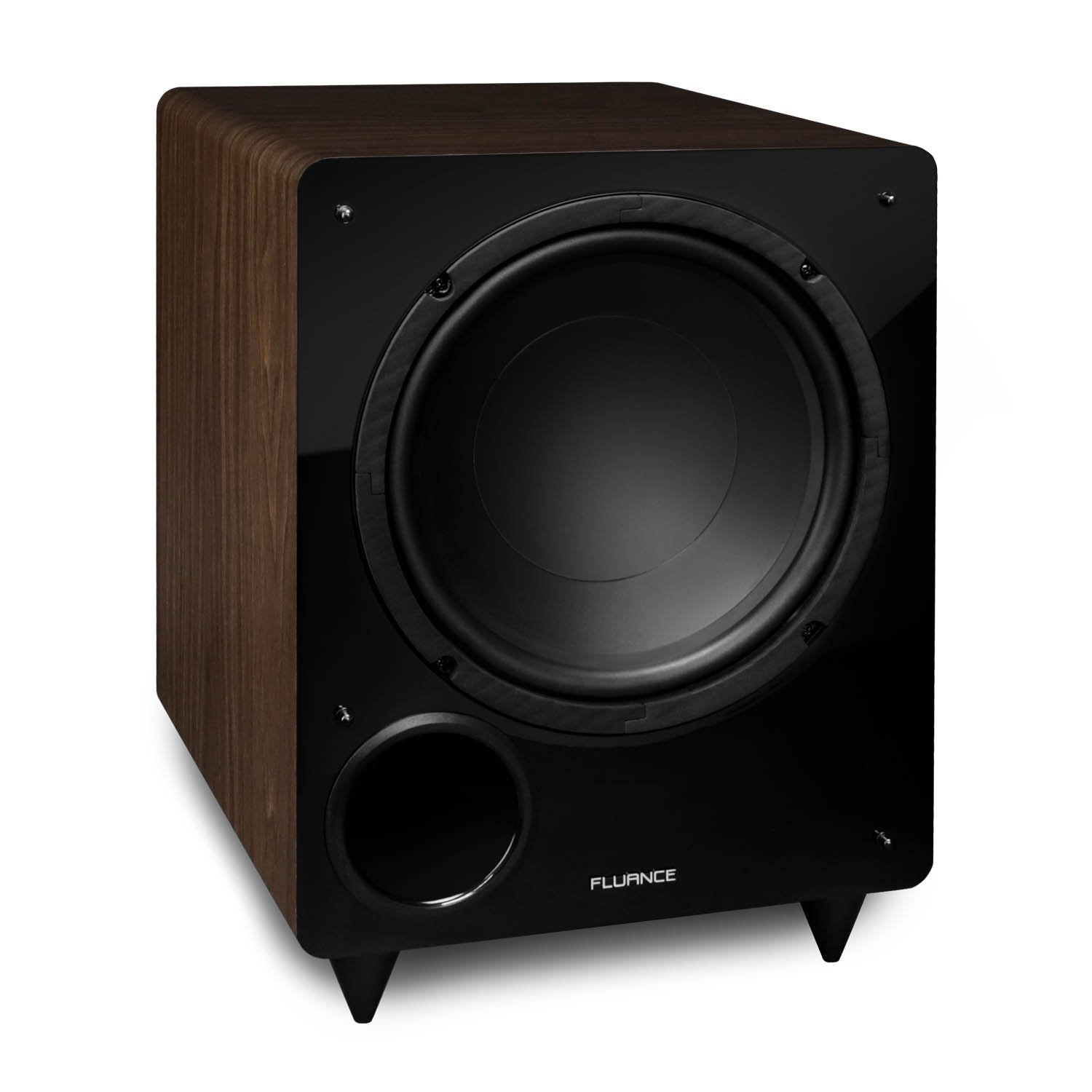 Fluance DB10W 10-inch Low Frequency Powered Subwoofer for Home Theater (Natural Walnut) by Fluance
