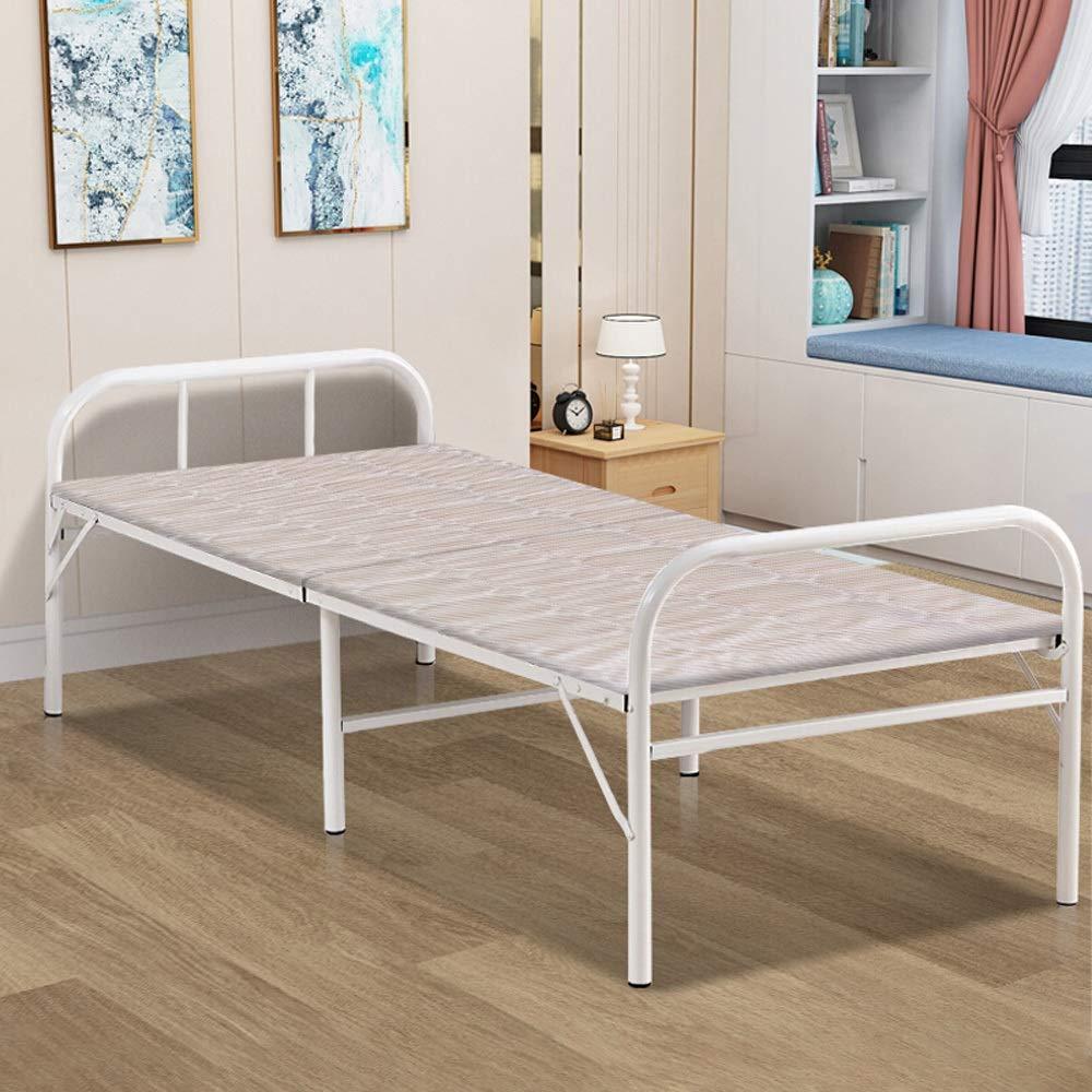 PiPisun Klappbett für Lounge Klappbett Einzel Mittagessen Bett Mittagspause Stuhl for Innen Büro Balkon Terrasse Garten Strand Außen (Farbe : Mehrfarbig, Größe : 190X80X42CM)