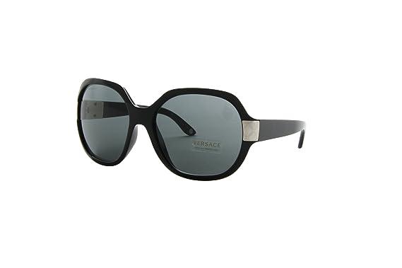 4fc669e77e32 New Versace VE 4173 GB1 87 Black Men Women Plastic Sunglasses  Versace   Amazon.co.uk  Clothing