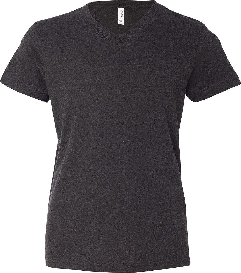V-Neck Jersey T-Shirt Bella Canvas 3005Y Unisex Big Kids Youth 4.2 oz