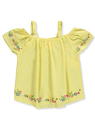 600be873f7aca9 Chillipop Little Girls' Toddler Cold Shoulder Top - Yellow, ...
