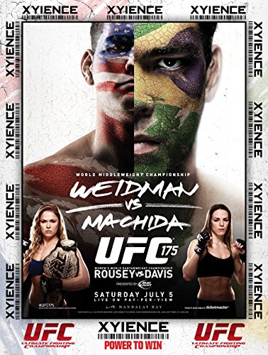 UFC 175 July 5 2016 Poster  - Weidman vs Machida Rousey vs D