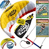 HQ Hydra II 300 V2 Kiteboarding Trainer Kite + x2 DVD Bundle : Including Progression Beginner Kitesurfing Instructional DVD + Progression Intermediate Volume 1 DVD + WindBone Kiteboarding Key Chain