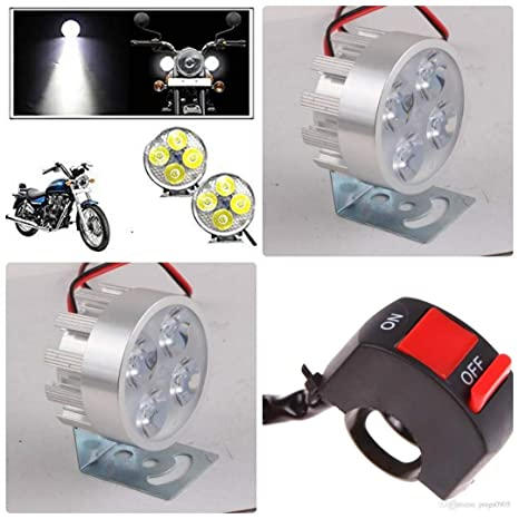 Luvik 12 Volt Fog Led Lights For Car And Bike With On Off
