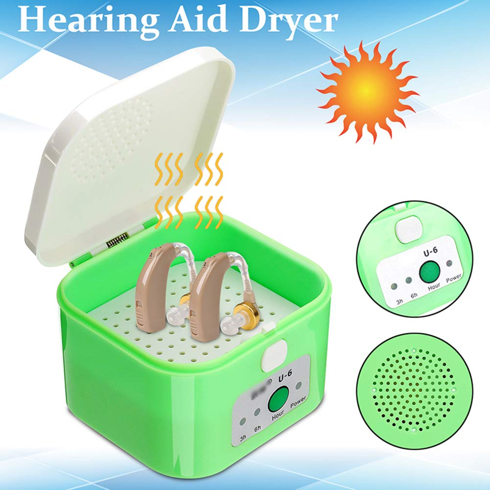 MFZTQ Hearing aid Dehumidifier 3-6hours Timer Dryer Drybox Drying Protective Storage Hard Case by MFZTQ