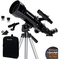 Celestron 70mm Travel Scope Portable Refractor Telescope Fully-Coated Glass Optics Ideal Telescope