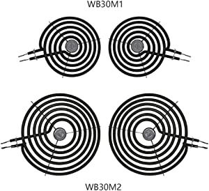 AMI PARTS Surface Element Kit 2 Pack WB30M1& 2 Pack WB30M2 Compatible with GE, Whirlpool.