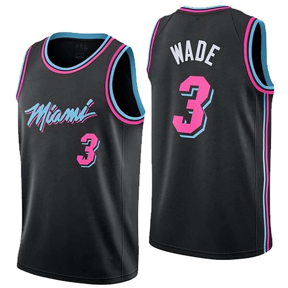 the best attitude f1de4 5a6ba LHWLX 2019 Mens Jerseys Miami Heat No. 3 Wade Basketball Uniform Suit Tops  And Shorts (S - XXXL)