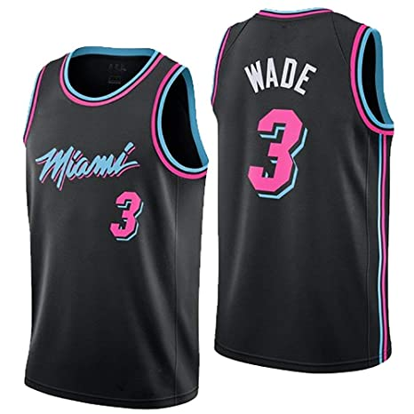 the best attitude ff999 3aa49 LHWLX 2019 Mens Jerseys Miami Heat No. 3 Wade Basketball Uniform Suit Tops  And Shorts (S - XXXL)