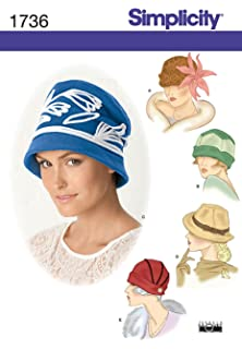 982da3131f Simplicity Pattern 1736.A Small-Large Misses' Hats in Three Sizes