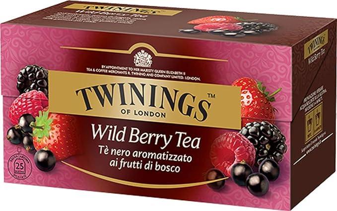 Imagen deTwinings Tè Aromatizados - Bayas - Precioso té Negro Aromatizado con Frutas, Flores, Especias y Esencias - Sabor Envolvente, Excelente tanto Caliente como Frio (25 Bolsas)