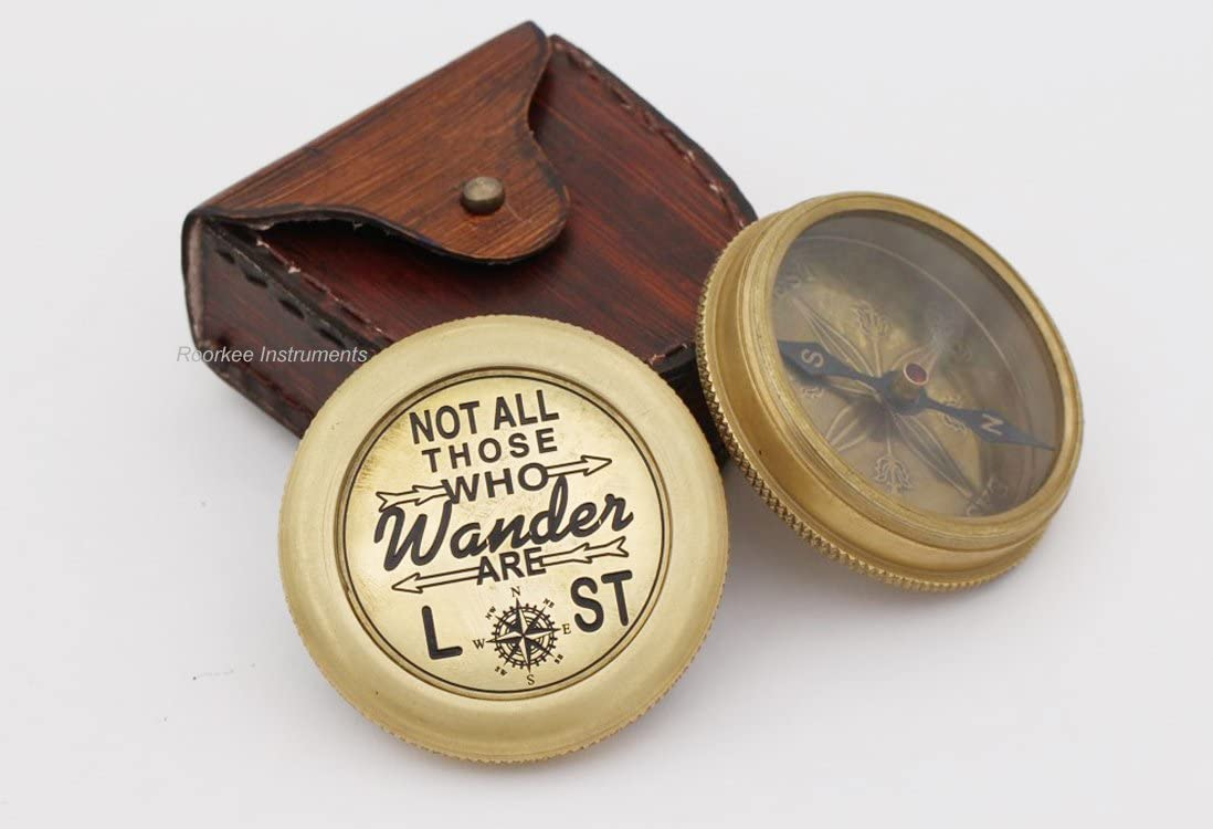 Complete Quote of J.R.R Tolkien Not All Those. Compass with Case …