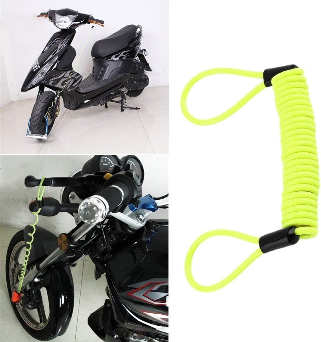 Jessicadaphne 120 cm Blocco promemoria Blocco Disco Anti Ladro Blocco Allarme di Sicurezza Strumenti di Sicurezza per motociclette Accessori di Sicurezza per motociclette