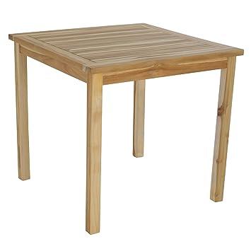 Gartentisch Esstisch 70x70 cm aus massivem Teak Holz