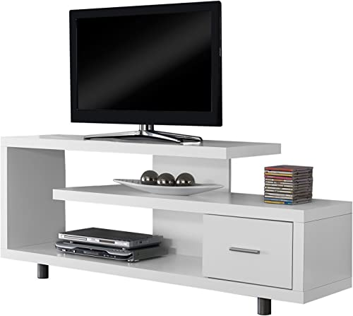 Michael Anthony Furniture White Hollow-Core 60 L TV Console