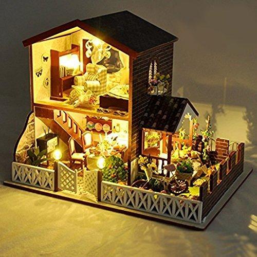 LEDライト付属 西洋風 マリン 海 ドールハウス 組み立てキット ハンドメイド 照明 点灯 人形 おもちゃ ホビー ミニチュア 小物 インテリア TASTE-D030D