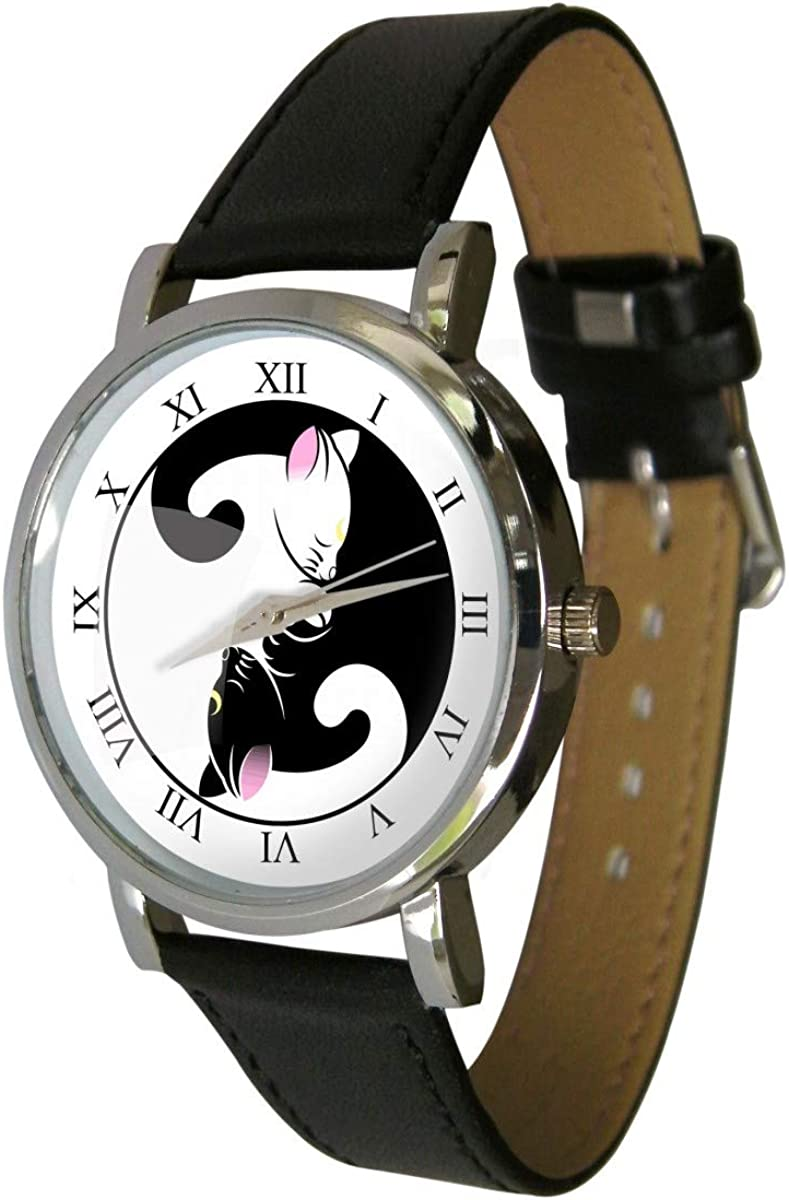 Your Watch Design. Yin Yang Cats Design Fashion Watch. Analogue Movement. Unisex, Adult Sized.