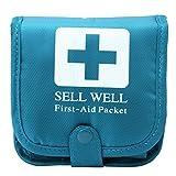 Shoresu Outdoor Camping Home Survival Portable First Aid Bag Medicine Pill Box Case Blue